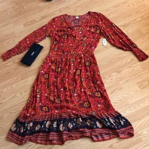 NWT Old Navy Autumn Floral Dress